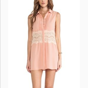 NEW MINKPINK Spread Your Wings Shirtdress Pink